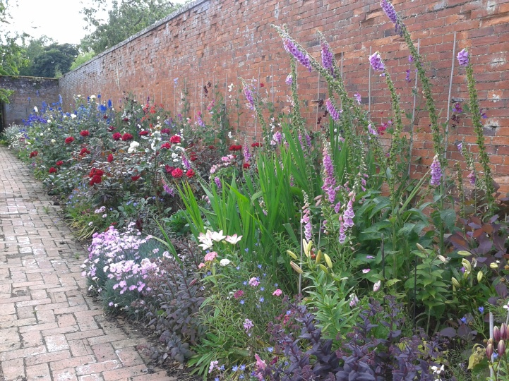 The cut flower border in spring before 2014 changes